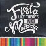 "Creative Converting Serape Fiesta 5"" Tissue Disposable Napkins in Black/White   Wayfair DTC322288NAP"
