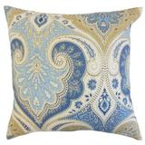 Lark Manor™ Heslin Damask Bedding Sham 100% Linen in Blue/White, Size 30.0 H x 20.0 W x 5.0 D in   Wayfair DABY8568 40280405