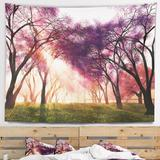 East Urban Home Polyester Blossoms Japan Garden Tapestry w/ Hanging Accessories Included Polyester in Brown/Gray, Size 50.0 H x 60.0 W in | Wayfair