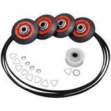 ERP Washing Machine Dryer Drum Roller in Black/Red, Size 2.0 H x 6.0 W x 9.0 D in | Wayfair ER4392067