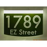 EZ Street Signs 2-Line Lawn Address Sign Plastic in Green, Size 8.5 H x 12.0 W x 2.5 D in   Wayfair 8m-1-w