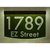 EZ Street Signs 2-Line Lawn Address Sign Plastic in Green, Size 8.5 H x 12.0 W x 2.5 D in   Wayfair 8m-1-b