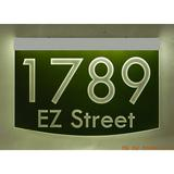 EZ Street Signs 2-Line Lawn Address Sign Plastic in Green, Size 8.5 H x 12.0 W x 2.5 D in   Wayfair 8m-1-s