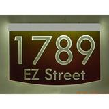 EZ Street Signs 2-Line Lawn Address Sign Plastic in Red, Size 8.5 H x 12.0 W x 2.5 D in | Wayfair 8m-4-s