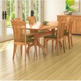 Copeland Furniture Sarah Extendable Cherry Solid Wood Dining Table, Wood/Solid Wood in Natural Cherry, Size Large (Seats 8+) | Wayfair 6-SAR-21-03
