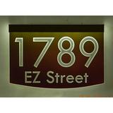 EZ Street Signs 2-Line Lawn Address Sign Plastic in Red, Size 8.5 H x 12.0 W x 2.5 D in | Wayfair 8m-4-b