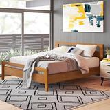 Copeland Furniture Mansfield Solid Wood Platform Bed Metal in Brown/Red, Size 79.0 W x 84.0 D in | Wayfair 1-MAN-01-03