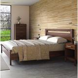 Copeland Furniture Mansfield Solid Wood Platform Bed Metal in Brown/Red, Size 63.0 W x 84.0 D in | Wayfair 1-MAN-02-04
