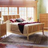 Copeland Furniture Sarah Sleigh Bed Wood in Brown, Size 62.5 W x 95.5 D in | Wayfair 1-SLM-12-02
