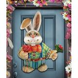 Designocracy Easter Father Family Wall Decor Wood in Brown/Green/Red, Size 20.0 H x 20.0 W x 0.25 D in | Wayfair 8154423H_Dad