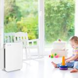 GermGuardian Room Allergen & Odor Reducing Air Cleaning System w/ HEPA filter in Gray/White, Size 21.0 H x 16.0 W x 9.65 D in | Wayfair AC5900WCA