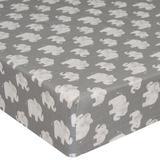 Glenna Jean Mini Fitted Crib Sheet Cotton in Gray, Size 24.0 W x 5.0 D in | Wayfair 30139