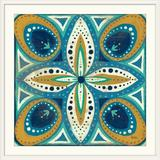 Great Big Canvas 'Proud as a Peacock Tile II' by Veronique Charron Painting Print in Brown, Size 38.0 H x 38.0 W x 1.0 D in | Wayfair