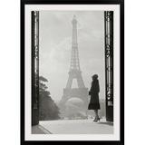 "Mercer41 'Paris 1928' Photographic Print, Format: Black Framed in Brown/Gray/White, Size 44"" H x 32"" W x 1"" D   Wayfair 1052176_15_24x36"