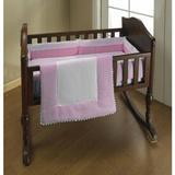 "Harriet Bee Durgin Cradle Bedding Set 100% Cotton in Pink, Size 18"" W x 36"" L   Wayfair 4A136BEF1489404397DF8783142CC8A0"