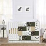 Sweet Jojo Designs Woodland Camo 4 Piece Crib Bedding Set in Black/Brown/Green | Wayfair WoodlandCamo-Crib-4