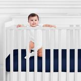 Sweet Jojo Designs Woodsy Fitted Crib Sheet Polyester in Blue, Size 8.0 H x 28.0 W x 52.0 D in | Wayfair CribSheet-Woodsy-NV-MT-NAVY