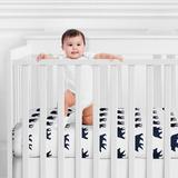 Sweet Jojo Designs Big Bear Fitted Crib Sheet Polyester in Blue/White, Size 8.0 H x 28.0 W x 52.0 D in   Wayfair CribSheet-BigBear-PRT