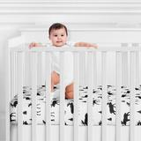 Sweet Jojo Designs Rustic Patch Fitted Crib Sheet Polyester in Black/White, Size 8.0 H x 28.0 W x 52.0 D in | Wayfair CribSheet-RusticPatch-PRT