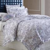 CompanyC Aria 100% Cotton Buttons Sham 100% Cotton, Size 32.0 H x 26.0 W x 1.0 D in | Wayfair 10279-BLUE-STAND