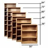 Loon Peak® Mcintosh Standard Bookcase Wood in White/Brown, Size 36.0 H x 36.0 W x 13.0 D in   Wayfair 0907EF4BA82144CAB64ACE7FB79504E7