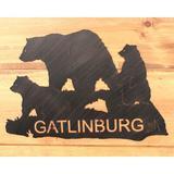 Loon Peak® Bear Family Personalized Metal Sign Metal in Black/Brown, Size 16.0 H x 23.75 W in | Wayfair LOPK5081 42387516