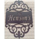 LANDDescapes 3-Line Wall Address Plaque in Red, Size 12.0 H x 9.0 W x 0.25 D in   Wayfair Name-01-red