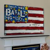 Marmont Hill 'Basalt Flag' by Tori Campisi Painting Print on Wrapped Canvas Canvas & Fabric in Black, Size 30.0 H x 45.0 W x 1.5 D in | Wayfair