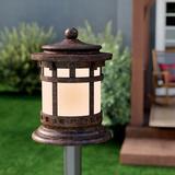 Millwood Pines Esplanade Outdoor Deck Lantern 1-Light Pier Mount Light Metal, Size 12.5 H x 10.5 W x 10.5 D in | Wayfair