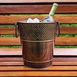 Williston Forge Bellicent Wine Bucket Metal in Brown, Size 9.0 H x 8.0 W x 8.0 D in   Wayfair MNTP2509 42972589