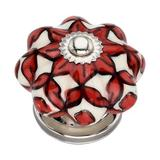 Mascot Hardware Oversized Hand Painted Blossom Knob Multipack Ceramic in Red, Size 0.98 H x 1.61 W x 1.61 D in | Wayfair CK428