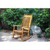 Masaya & Co Zelaya Rocking Chair Wood/Solid Wood in Brown, Size 45.0 H x 25.0 W x 30.0 D in   Wayfair 803.301
