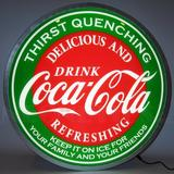 Neonetics Coca-Cola Evergreen Backlit LED Sign in Red, Size 15.0 H x 15.0 W x 4.0 D in | Wayfair 7CCGRN