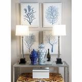 "Port 68 Kensington 38"" Buffet Lamp Set Metal/Fabric in Gray, Size 38.0 H x 12.0 W x 9.0 D in   Wayfair LPAM-293-02"