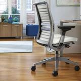 Steelcase Think® Executive Chair Upholstered in Black, Size 37.125 H x 27.0 W x 25.0 D in | Wayfair THINK LTR-509-101-540-160-130-2-141