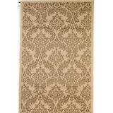 Astoria Grand Sexton Flatweave Beige/Gold Rug Polypropylene in Brown/Yellow, Size 96.0 H x 60.0 W x 0.2 D in | Wayfair