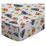 Sheetworld Cars & Dogs Pack & Play Crib Sheet Cotton in Blue, Size 36.0 H x 36.0 W x 42.0 D in | Wayfair BB-W1071
