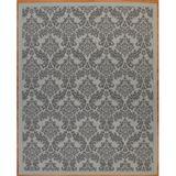 Astoria Grand Sexton Flatweave Light Gray/Anthracite Rug Polypropylene in Black/Brown/Gray, Size 84.0 H x 29.0 W x 0.2 D in | Wayfair
