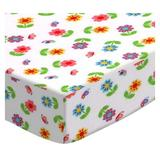 Sheetworld Colorful Roses Pack & Play Crib Sheet Cotton in Green, Size 39.0 H x 27.0 W x 38.0 D in | Wayfair PC-W1137