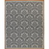 Astoria Grand Sexton Flatweave Light Gray/Anthracite Rug Polypropylene in Black/Brown/Gray, Size 44.0 H x 24.0 W x 0.2 D in | Wayfair
