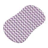 Sheetworld Zigzag Fitted Bassinet Sheet 100% Cotton in Indigo   Wayfair HL-W112