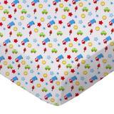 Sheetworld Baby Cars & Trucks Pack & Play Crib Sheet Cotton in Blue, Size 36.0 H x 36.0 W x 38.0 D in | Wayfair PC-W1070