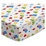 Sheetworld Baby Cars & Trucks Pack & Play Crib Sheet Cotton in Blue, Size 36.0 H x 36.0 W x 39.0 D in | Wayfair PP2739-W1070