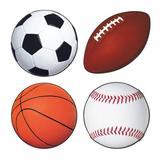 The Beistle Company 4 Piece Sports Set, Size 14.75 H x 12.5 W x 0.125 D in   Wayfair 54145