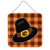 The Holiday Aisle® Thanksgiving Pilgrim Hat Wall Decor Metal in Black/Brown/Orange, Size 8.0 H x 6.0 W in | Wayfair THLA4837 39993013