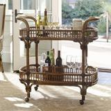 Tommy Bahama Home Bali Hai Bar Cart Wood in Brown, Size 37.5 H x 40.0 W x 20.25 D in | Wayfair 01-0593-862