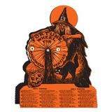 The Holiday Aisle® Halloween-Vintage Witch Fortune Wheel Game in Black/Orange, Size 9.25 H x 6.75 W x 1.0 D in   Wayfair THLA7508 40480263