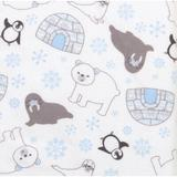 Trend Lab Igloo Friends Deluxe Flannel Fitted Crib Sheet Cotton, Size 10.0 H x 28.0 W x 52.0 D in   Wayfair 102740