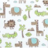 Trend Lab Sage Safari Animals Deluxe Flannel Fitted Crib Sheet Cotton, Size 10.0 H x 28.0 W x 52.0 D in | Wayfair 102743