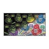 The Holiday Aisle® Midnight Glow Disposable Party Hat Set in Black/Blue/Yellow | Wayfair THDA7920 43483271